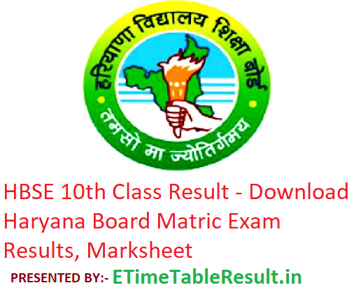 HBSE 10th Class Result 2019 - Download Haryana Board Matric