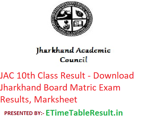JAC 10th Class Result 2019 - Download Jharkhand Board Matric
