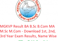 MGKVP Result 2019 BA B.Sc B.Com MA M.Sc M.Com - Download 1st-2nd-3rd Year Exam Results, Name Wise