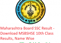 Maharashtra Board SSC Result 2019 - Download MSBSHSE 10th Class Results, Name Wise