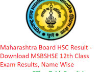 Maharashtra Board HSC Result 2019 - Download MSBSHSE 12th Class Exam Results, Name Wise