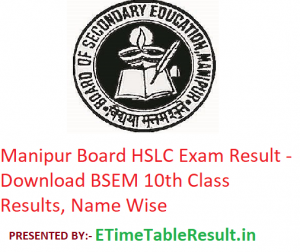Manipur Board HSLC Result 2019 - Download BSEM 10th Class Exam Results, Name Wise