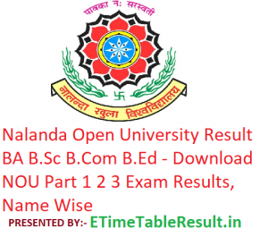 Nalanda Open University Result 2019 BA B.Sc B.Com B.Ed - Download NOU Part 1st-2nd-3rd Year Results, Name Wise