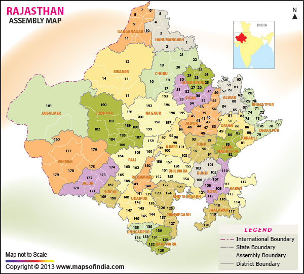 Rajasthan Assembly Election Results 2018 Constituency Wise