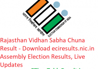 Rajasthan Vidhan Sabha Election Result 2018 - Download eciresults.nic.in Assembly Elections Results, Live Updates