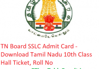 TN Board SSLC Admit Card 2019 - Download Tamil Nadu 10th Class Hall Ticket, Roll No