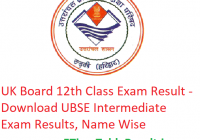 UK Board 12th Class Result 2019 - Download Uttarakahand Intermediate Exam Results, Name Wise