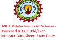 UPBTE Polytechnic Exam Scheme 2018-19 - Download BTEUP Odd/Even Semester Date Sheet, Exam Date