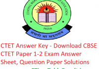 "CTET Answer Key 2018 - Download ""09 December"" CBSE CTET Paper 1-2 Answer Sheet"
