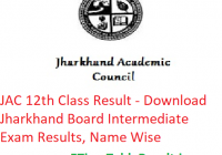 JAC 12th Class Result 2019 - Download Jharkhand Board Intermediate Exam Results, Name Wise