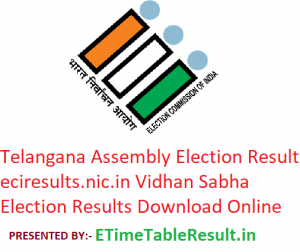 Telangana Assembly Elections Result 2018 Constituency Wise @eciresults.nic.in Vidhan Sabha Election Results Download
