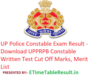 """UP Police Constable Result 2018-19 """"uppbpb.gov.in"""" Download UP Constable Written Test CutOff Marks"""