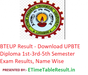 BTEUP Result 2019 - Download UP BTE Diploma 2nd-4th-6th Sem Exam Results, Name Wise