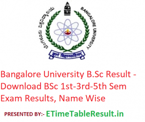 Bangalore University B.Sc Result 2019 - Download BSc 1st-3rd-5th Semester Exam Results, Name Wise