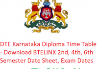 DTE Karnataka Diploma Time Table 2019 - Download BTELINX 2nd-4th-6th Semester Date Sheet, Exam Dates