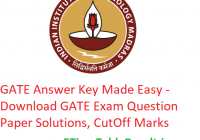GATE 2019 Answer Key Made Easy - Download 2nd, 3rd, 9th, 10th Feb GATE Exam Question Paper, CutOff