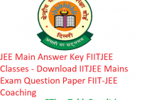 JEE Main Answer Key 2019 FIITJEE Classes - Download IITJEE Mains Exam Ques Paper Solution FIIT-JEE Coaching
