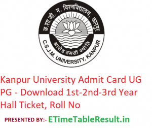 Kanpur University Admit Card 2019 UG/PG - Download 1st-2nd-3rd Year Exam Hall Ticket, Roll No