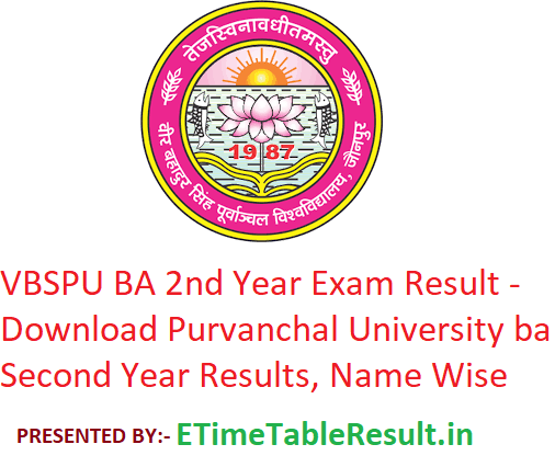 VBSPU BA 2nd Year Result 2019 - Download Purvanchal University BA