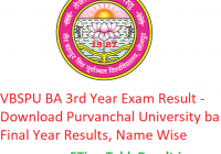 VBSPU BA 3rd Year Result 2019 - Download Purvanchal University ba Final Year Exam Results, Name Wise