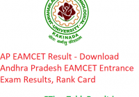 AP EAMCET Result 2019 - Download Andhra Pradesh EAMCET Entrance Exam Results, Rank Card