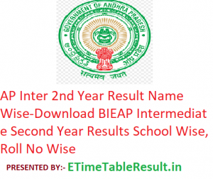AP Inter 2nd Year Result 2019 Name Wise - Download BIEAP Intermediate Second Year Exam Results School Wise, Roll No Wise