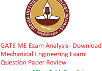 GATE 2019 ME Exam Analysis - Download 2nd February Mechanical Engineering Question Paper Review
