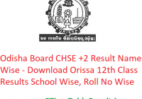 Odisha Board CHSE +2 Result 2019 Name Wise - Download Orissa 12th Class Results School Wise, Roll No Wise