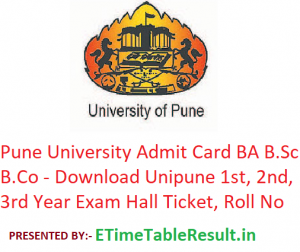 Pune University Admit Card 2019 BA B.Sc B.Com - Download Unipune 1st-2nd-3rd Year Exam Hall Ticket, Roll No