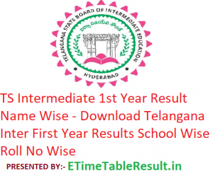 TS Intermediate 1st Year Result 2019 Name Wise - Download Telangana Inter First Year Results School Wise, Roll No Wise