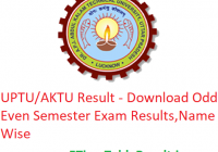 UPTU/AKTU Result 2019 - Download Odd Even Semester Exam Results, Name Wise