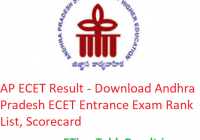 AP ECET Result 2019 - Download Andhra Pradesh ECET Entrance Exam Rank List, Scorecard