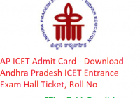 AP ICET Admit Card 2019 - Download Andhra Pradesh ICET Entrance Exam Hall Ticket, Roll No