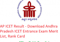 AP ICET Result 2019 - Download Andhra Pradesh ICET Entrance Exam Merit List, Rank Card