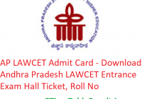AP LAWCET Admit Card 2019 - Download Andhra Pradesh LAWCET Entrance Exam Hall Ticket, Roll No