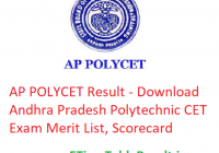 AP POLYCET Result 2019 - Download Andhra Pradesh Polytechnic CET Exam Merit List, Scorecard
