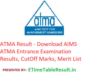 ATMA Result 2019 - Download AIMS ATMA Entrance Exam CutOff, Merit List