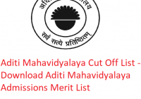 Aditi Mahavidyalaya Cut Off List 2019 - Download Aditi Mahavidyalaya College Admissions Merit List