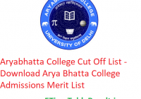 Aryabhatta College Cut Off List 2019 - Download Arya Bhatta College Admissions Merit List