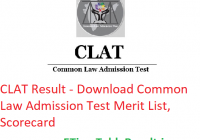 CLAT Result 2019 - Download Common Law Admission Test Merit List, Scorecard