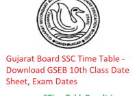 Gujarat Board SSC Time Table 2020 - Download GSEB 10th Class Date Sheet, Exam Dates
