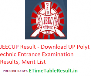 JEECUP Result 2019 - Download UP Polytechnic Entrance Exam Results, Merit List