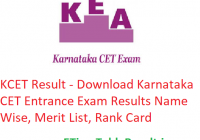 KCET Result 2019 - Download Karnataka CET Entrance Exam Merit List, Rank Card