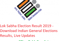 Lok Sabha Election Result 2019 - Download Indian General Elections Results, Live Updates