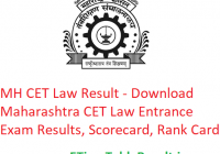 MH CET Law Result 2019 - Download Maharashtra Law CET Entrance Exam Scorecard, Rank Card