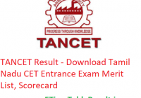 TANCET Result 2019 - Download Tamil Nadu CET Entrance Exam Rank List, Scorecard