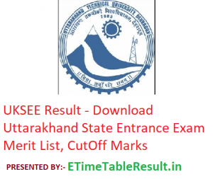 UKSEE Result 2019 - Download Uttarakhand State Entrance Exam Merit List, CutOff
