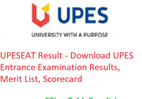 UPESEAT Result 2019 - Download UPES Entrance Exam Results, Merit List, Scorecard