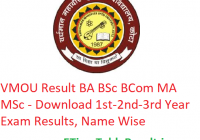 VMOU Result 2019 BA B.Sc B.Com MA - Download 1st-2nd-3rd Year Exam Results, Name Wise