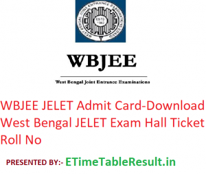 WBJEE JELET Admit Card 2019 - Download West Bengal JELET Exam Hall Ticket, Roll No